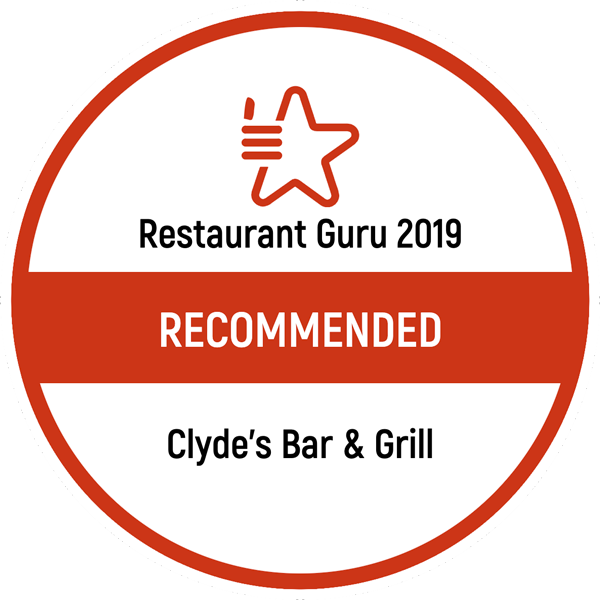Restaurant Guru 2019 RECOMMENDED Clyde's Bar & Grill